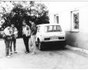 1990 m. vasara KAD. Iš kairės Smetona, Baltušis, neatsimenu, Kuncevičius