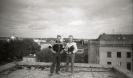 G Jurciukonio archyvas 1991 Pucas Ant buvusios LRV pastato stogo